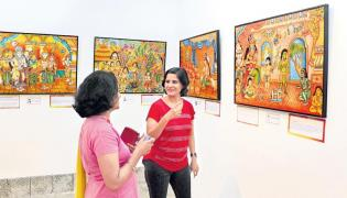 Mahabharata was written in murals - Sakshi