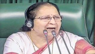 Lok Sabha Speaker Sumitra Mahajan not amused by Rahul Gandhi - Sakshi