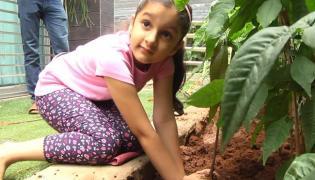 Mahesh Babus Daughter Sitara Is Happy To Assist Him In The Green Challenge - Sakshi