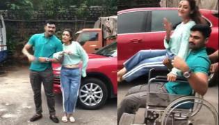 Kiki challenge by Bellamkonda Srinivas and Kajal Agarwal video  - Sakshi
