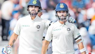 Virat Kohli, Ajinkya Rahane guide India to 307/6 on Day 1 in Third Test - Sakshi