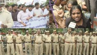 Lathi Charge at NTR Health University | Students Protest against MBBS Counselling  - Sakshi