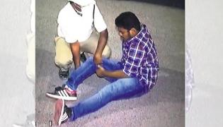 Hyderabad student fractures leg attempting to escape from cops during Drunk and Drive Check - Sakshi