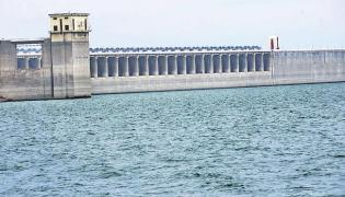 Dams in full flow as heavy rains in Telangana - Sakshi