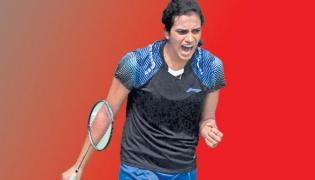 PV Sindhu creates history, enters women's single badminton final - Sakshi