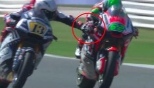 Motorbike racer Romano Fenati sacked after grabbing rivals brake during race - Sakshi