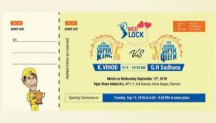 CSK Fan Print His Wedding Card Like CSK Ticket Model - Sakshi