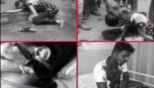 Hyderabad Father Attack On Lovers With Knife in erragadda - Sakshi