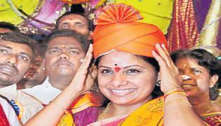 kalvakuntla kavitha comments on Congress and TDP Alliance - Sakshi