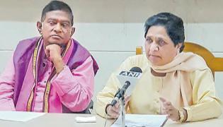 Mayawati announces alliance with Ajit Jogi's party - Sakshi