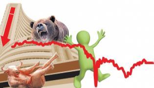 Sensex Gains Some Ground After Plunging 1100 Points - Sakshi