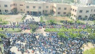 Agitation By Students In Basar IIIT - Sakshi