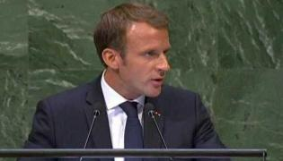 Wasn't In Power When Rafale Deal Signed, Says Macron At UN - Sakshi