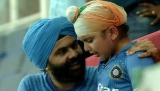 Watch- Little Indian fan crying after tie against Afghanistan makes Twitter emotional - Sakshi