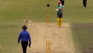 Australian Batsman's Comical Hit-Wicket Dismissal Leaves Fans In A Tizzy - Sakshi