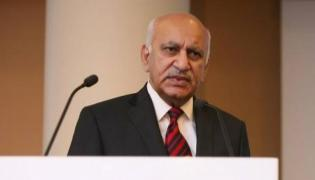 #MeToo fallout-MJ Akbar resigns as minister of state for external affairs - Sakshi