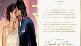 Deepika Padukone Shares Her Wedding Card - Sakshi