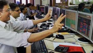 Sensex Gains Nifty Above 10,650 - Sakshi