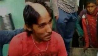 UP Man's Hair Shaved Off For Allegedly Posting Morphed Pics With Girls - Sakshi