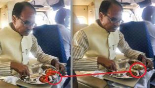 Photo of Shivraj Singh Chouhan Eating on Non Veg Food Is Morphed - Sakshi