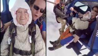 102 Year Old Grandma Skydiver Shakes Internet Becomes Oldest Skydiver In World - Sakshi
