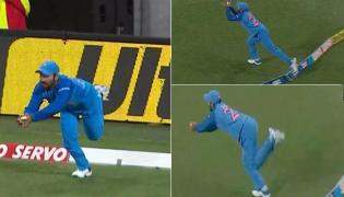 Dinesh Karthik Stunning Catch In First T20 Against New Zealand - Sakshi