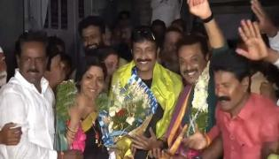 Actor Naresh Win in MAA Elections - Sakshi