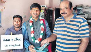 Begging For Elections Cost in Hyderabad - Sakshi