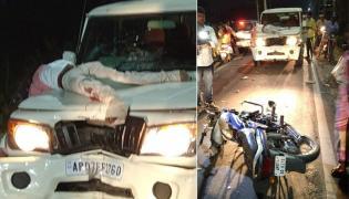 Bike Accident At Near To Chandrababu Home In Amravati - Sakshi