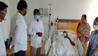 YS Jagan Visits Apollo Hospital and consoles TO Kuppam YSRCP Candidate chandramouli - Sakshi