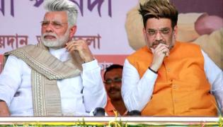 Narendra modi, Amit Shah appear in New Hair Style - Sakshi