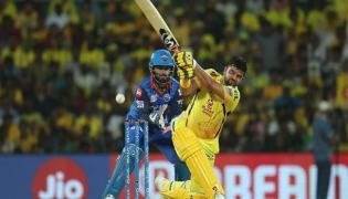 Rishabh Pant stops Suresh Raina from taking strike All in good fun - Sakshi