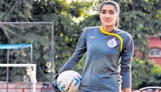 24 year old Afshan was a coach of football at Srinagar - Sakshi