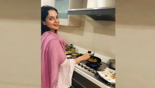 Kangana Ranaut turns chef Celebrates Narendra Modi victory with Chai and Pakoras - Sakshi