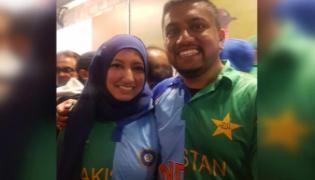 Couple with Indo Vs Pak Jersey Bowls Internet Over - Sakshi