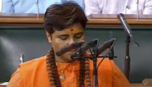 Pragya Singh Thakur Oath Add Suffixed Name Of Her Spiritual Guru In Parliament - Sakshi