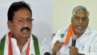 Congress Leaders Jeevan Reddy and Shabbir Ali Press Meet At Nizamabad - Sakshi