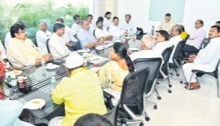 Chandrababu Meeting With TDP Leaders - Sakshi