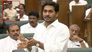 AP Budget 2019 CM Jagan Critics Chandrababu Naidu Over Illegal Constructions - Sakshi