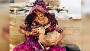 Jodhpur Bishnoi Woman Breastfeeds Baby Deer - Sakshi