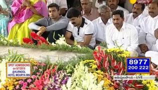 CM Jagan pays tributes to YSR at Idupulapaya