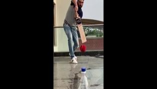 Yuvraj Singh Completes The Bottle Cap Challenge