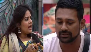 Bigg Boss 3 Telugu Varun Sandesh And Srimukhi Fires Each Other - Sakshi