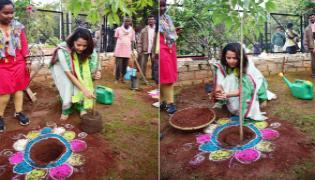 Anchor Anasuya Bharadwaj Receives Green Challenge From Bonthu Rammohan - Sakshi
