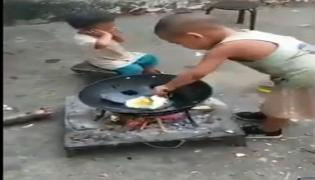 Watch, Toddler Cooks Indonesian Fried Rice For His Little Sister  - Sakshi