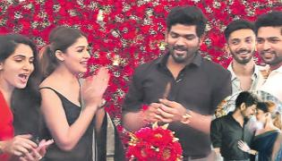 Nayanthara Throws Surprise Birthday Bash For Beau Vignesh Shivan - Sakshi