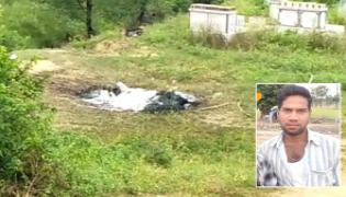Young Man Set On Fire Alive Over Occults In Shamirpet - Sakshi