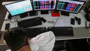 Sensex Plunges Over 400 Points Nifty Near 10700 - Sakshi
