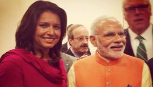 Tulsi Gabbard Welcomes PM Modi And Apologises For Skipping Howdy Modi - Sakshi