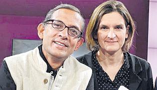 Indian-American MIT Prof Abhijit Banerjee and wife win Nobel Prize - Sakshi